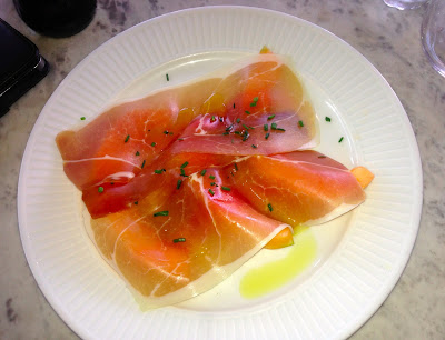 Melon and Parma Ham, Cote restaurant, Cardiff