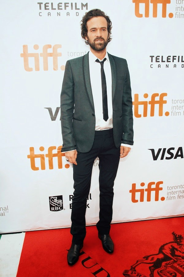 Romain Duris wears Saint Laurent by Hedi Slimane at 2014 Toronto International Film Festival