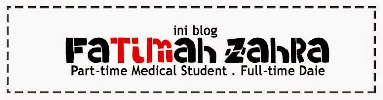 ini blog FATIMAH ZAHRA