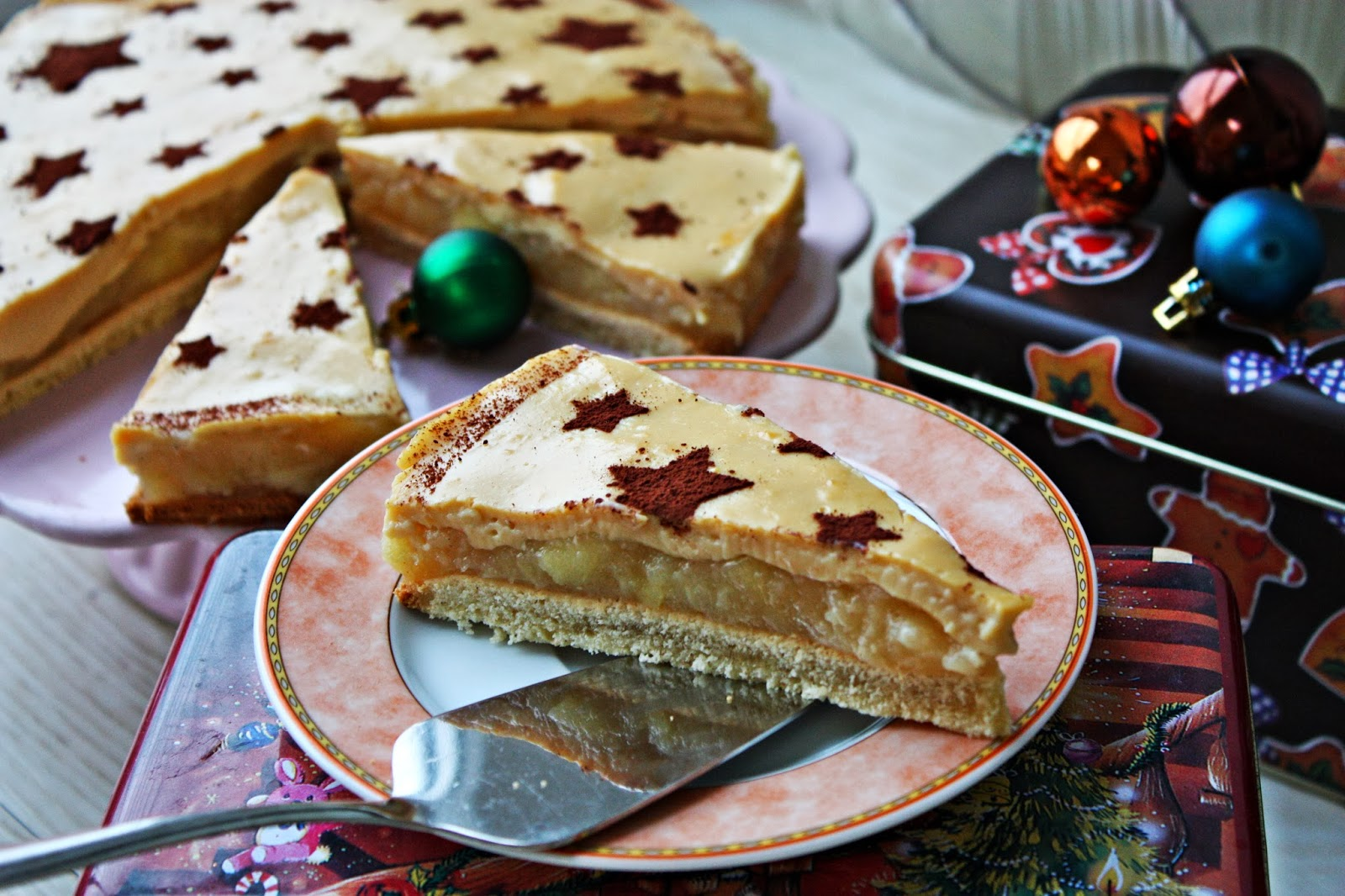 Apfel Punsch Torte mit Eierlikör Guss
