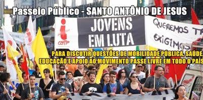 Jovens de Santo Antônio de Jesus estão preparando movimento pacífico