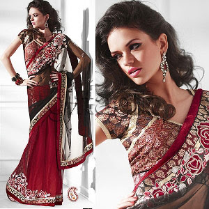Latest Fashion Party Wear Sarees