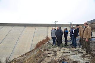 Vali Toprak ve Kop Müdürü Çınar Bozkır Barajında incelemelerde bulundu.