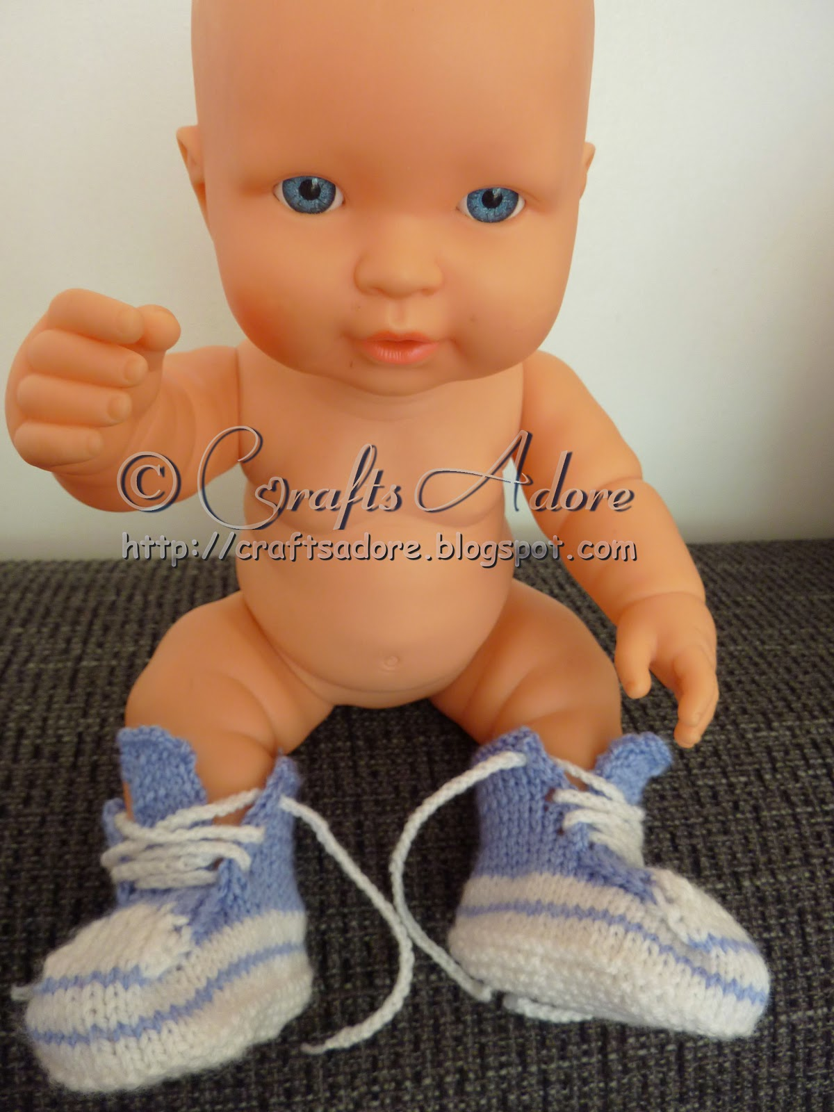 Knitted Baby Boy Converse Booties