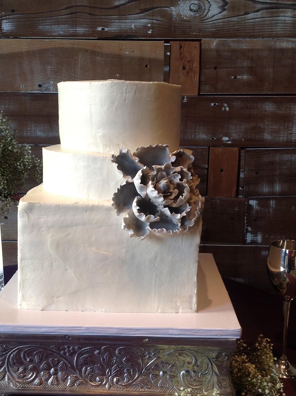 Plumeria Cake Studio Rustic Buttercream Wedding Cake with