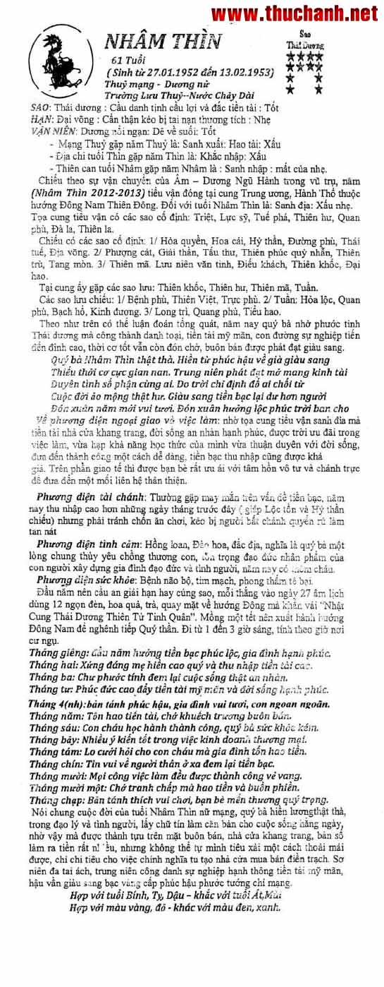 Xem Tu Vi Tuoi Canh Ngo Nu Mang Nam 2012