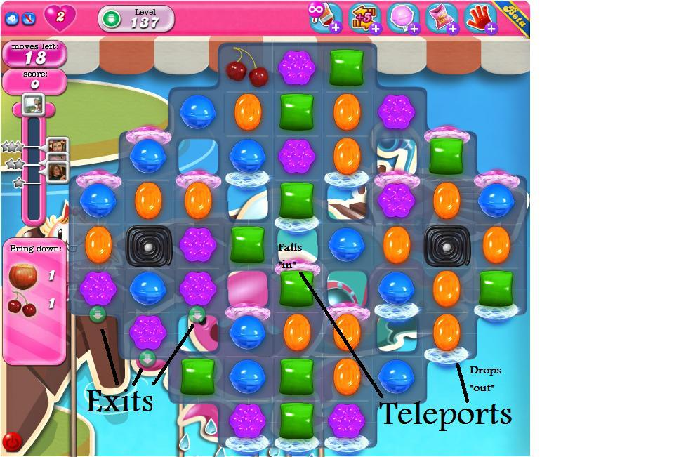 Candy Crush Saga Teleports.