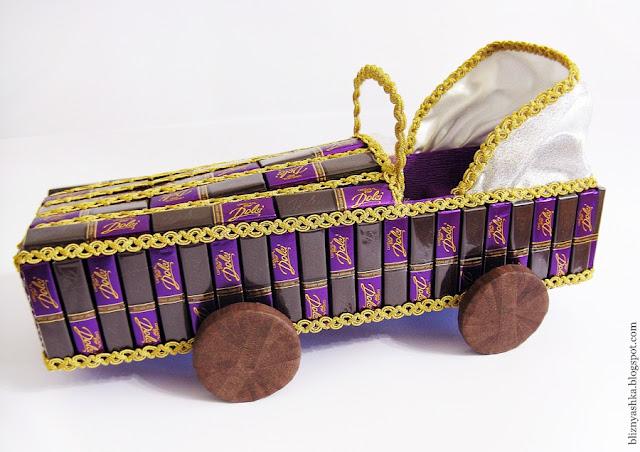 Кабриолет из конфет мастер класс