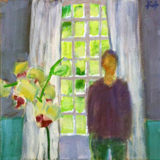 Figure with Orchid by Liza Hirst