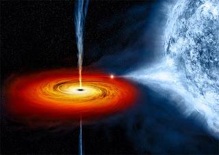 buraco negro sugando estrela