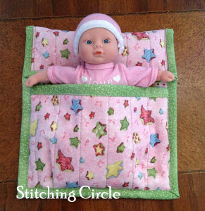 Sleeping bag done by Stitching Circle