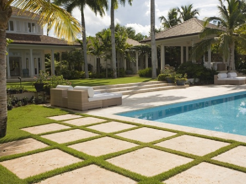 Coral Stone tiles Pool Decks and Stone Pavers