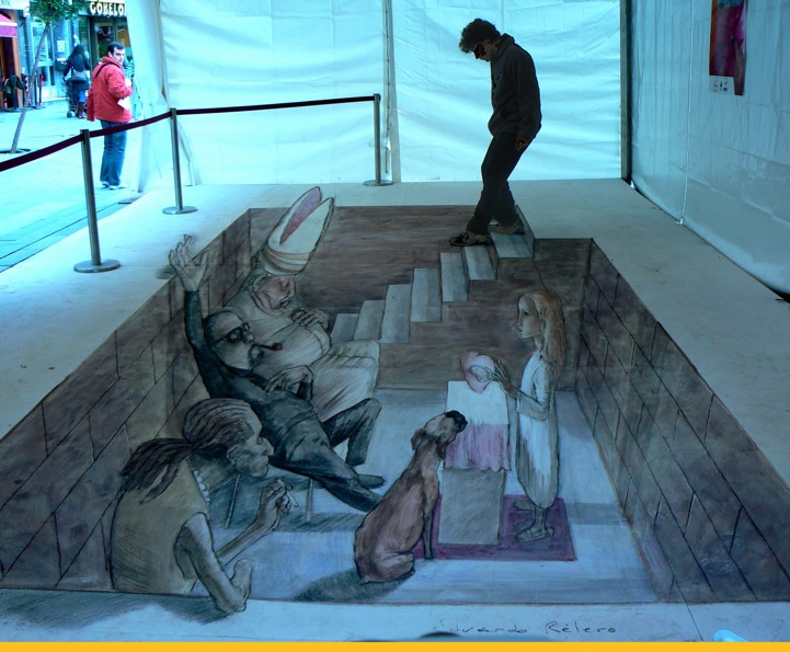 3d street art illusions by eduardo relero for 3d sculpture artists