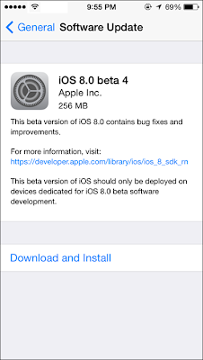 Apple iOS 8.0 beta 4 released to developers