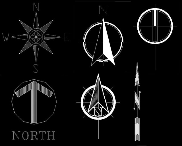 Architectural North Arrow3