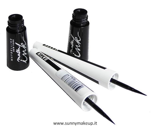 Maybelline New York: eyeliner Master Ink Matte e Satin.