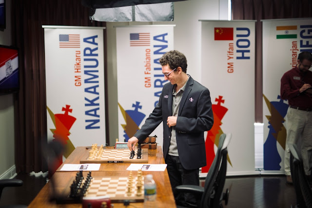 Fabiano Caruana ganó el match que lo enfrentó con Hikaru Nakamura.