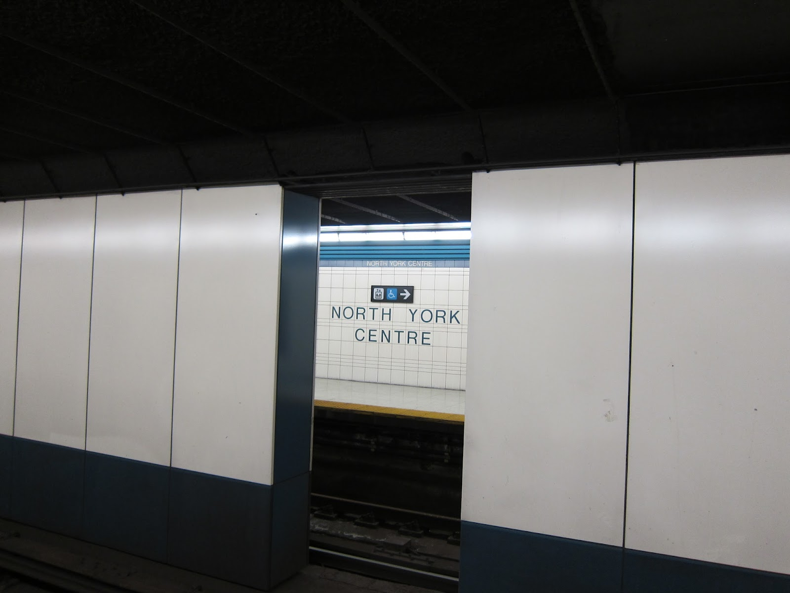 Support walls at North York Centre subway station