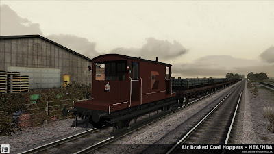 Fastline Simulation - HBA/HEA Coal Hoppers: A dia 1/506 brake van from lot 3129 takes its first spin in Train Simulator 2013.
