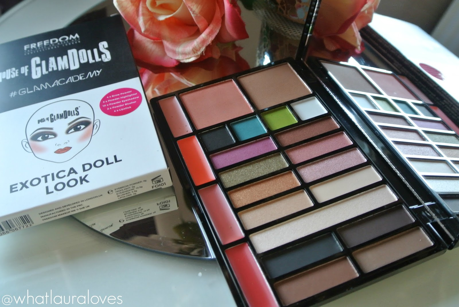 Freedom House of GlamDolls Exotica Doll Look Palette Lipstick Shades Inside and outer packaging