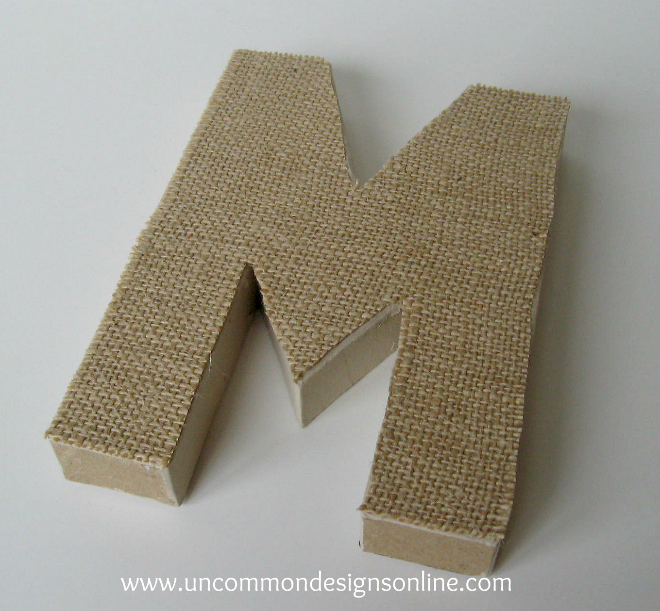 Awesome Burlap Covered Letters