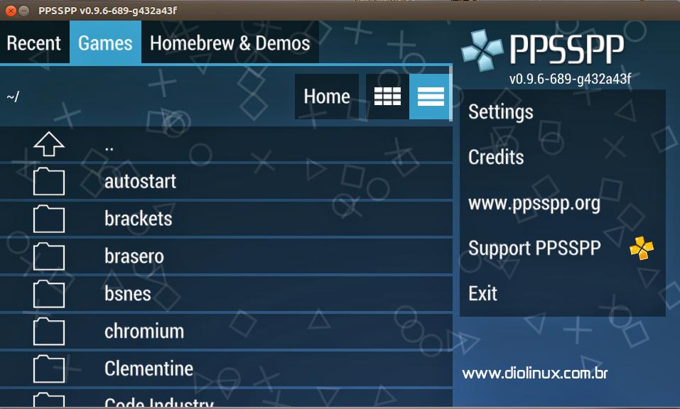 Emulador de PSP no Ubuntu