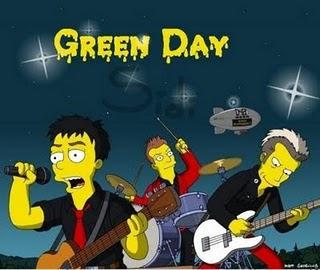Green Day Desenho Simpsons