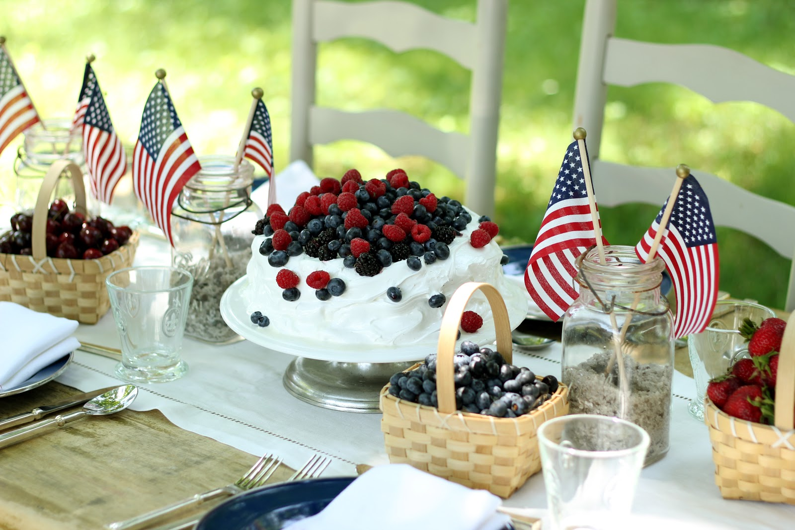 Jenny Steffens Hobick: 4th of July Table Setting, Red White & Blue ...