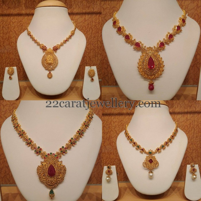 simple uncut diamond sets by naj jewelry jewellery designs