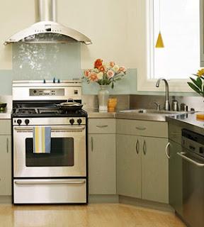 modern kitchen design with wooden floor