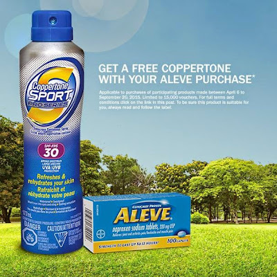 Aleve Free Coppertone Sunscreen Rebate