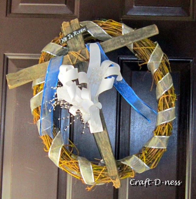 Easter Wreath with Paper Lilies