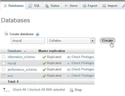 Create drupal Database