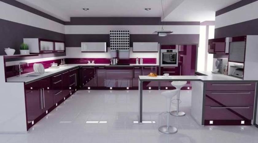 Meble do kuchni Modne kolorowe meble kuchenne -> Kuchnie Lakierowane Dwukolorowe
