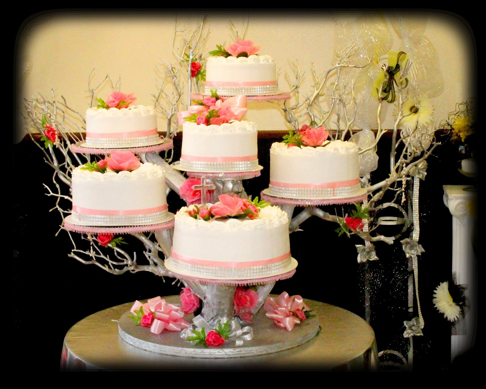 Quinceanera Cake Stands 3 Piece Royal Crown Cake Stand Set Silver