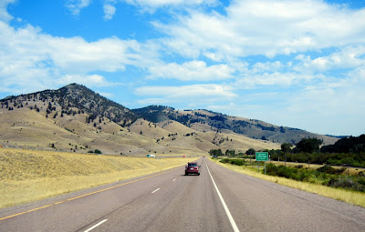 Driving through Montana on Interstate 90 towards Butte