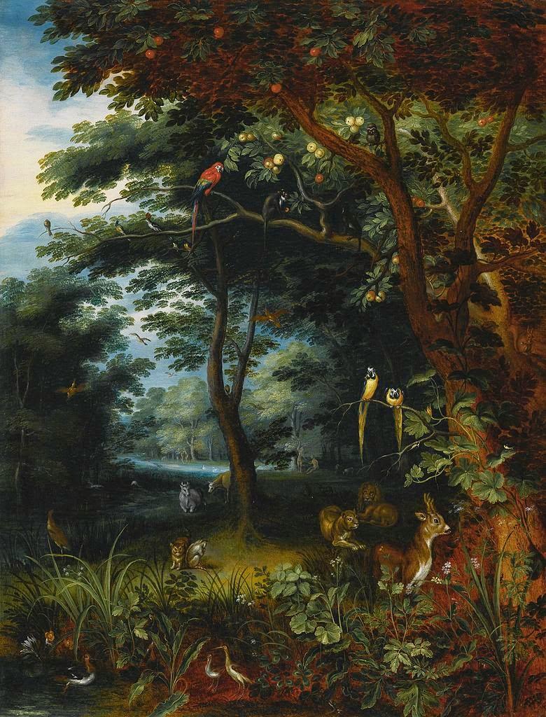 Paintings of spring jan brueghel cel t n r 13 septembrie for Jardin of eden