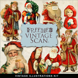 Freebies Vintage Xmas Illustrations
