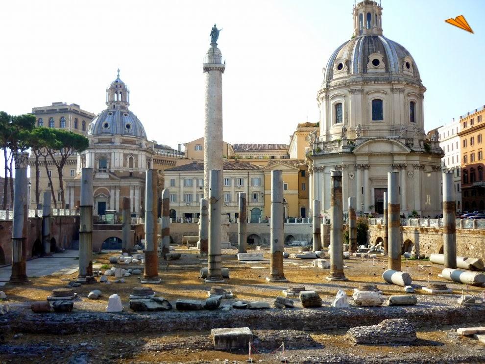 Columna Trajana y Foro Trajano