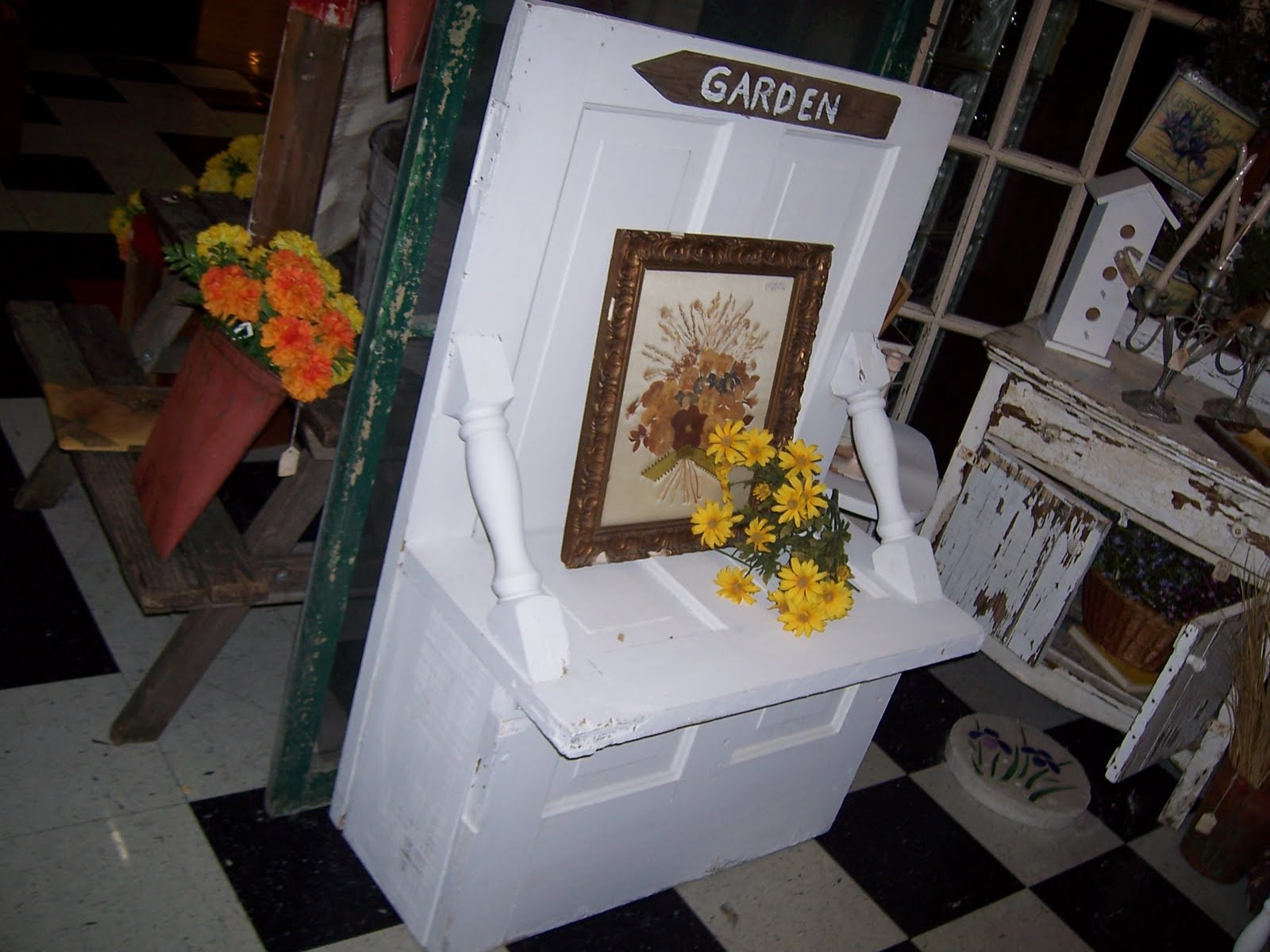 FRIENDS CANDLE SHED: A Door Able Benches ~made from old doors ...