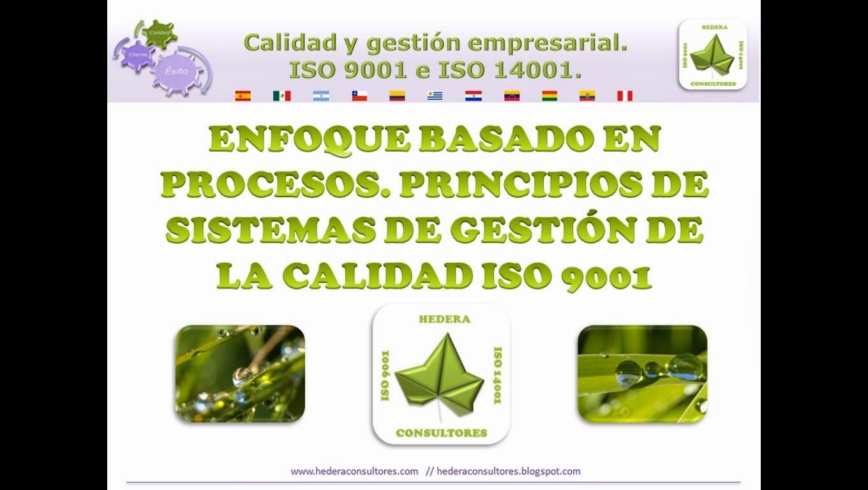 Enfoque a procesos ISO 9001