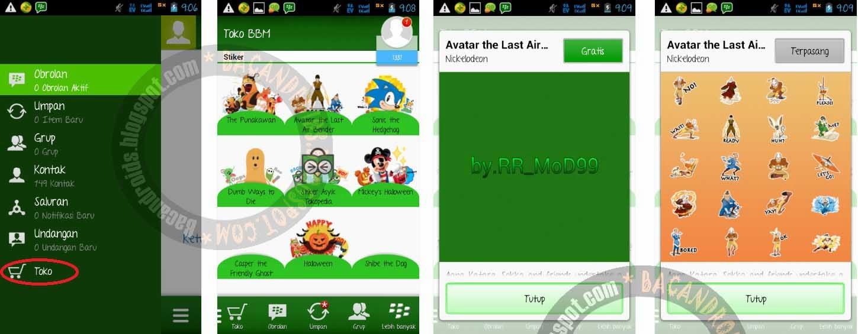 download aplikasi bbm mod yang sudah bisa ada stiker gratis tanpa beli