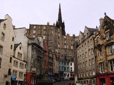 Buildings in the streets of Edinburgh - Scotland - UK