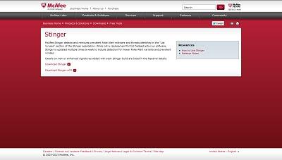 Download McAfee Labs Stinger Antivirus for PC Windows