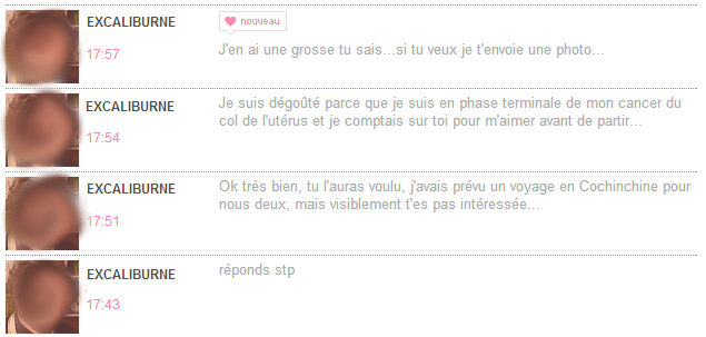 1er message type site de rencontre