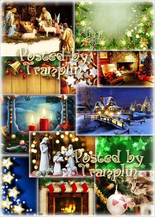 Праздничные Рождественские фоны – Пусть в вашей жизни чудо приключится