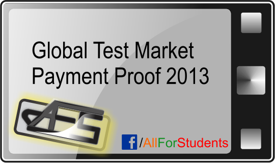 Global test market payment proof 2013