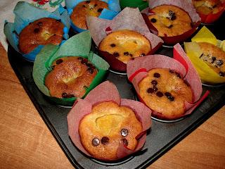 muffinki z brzoskwinią