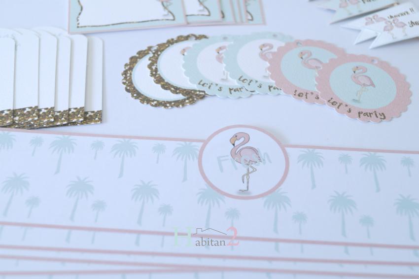 Party kit flamingo sorteo aniversario Habitan2