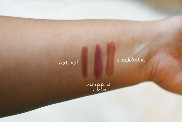 NYX cosmetics natural lip colors